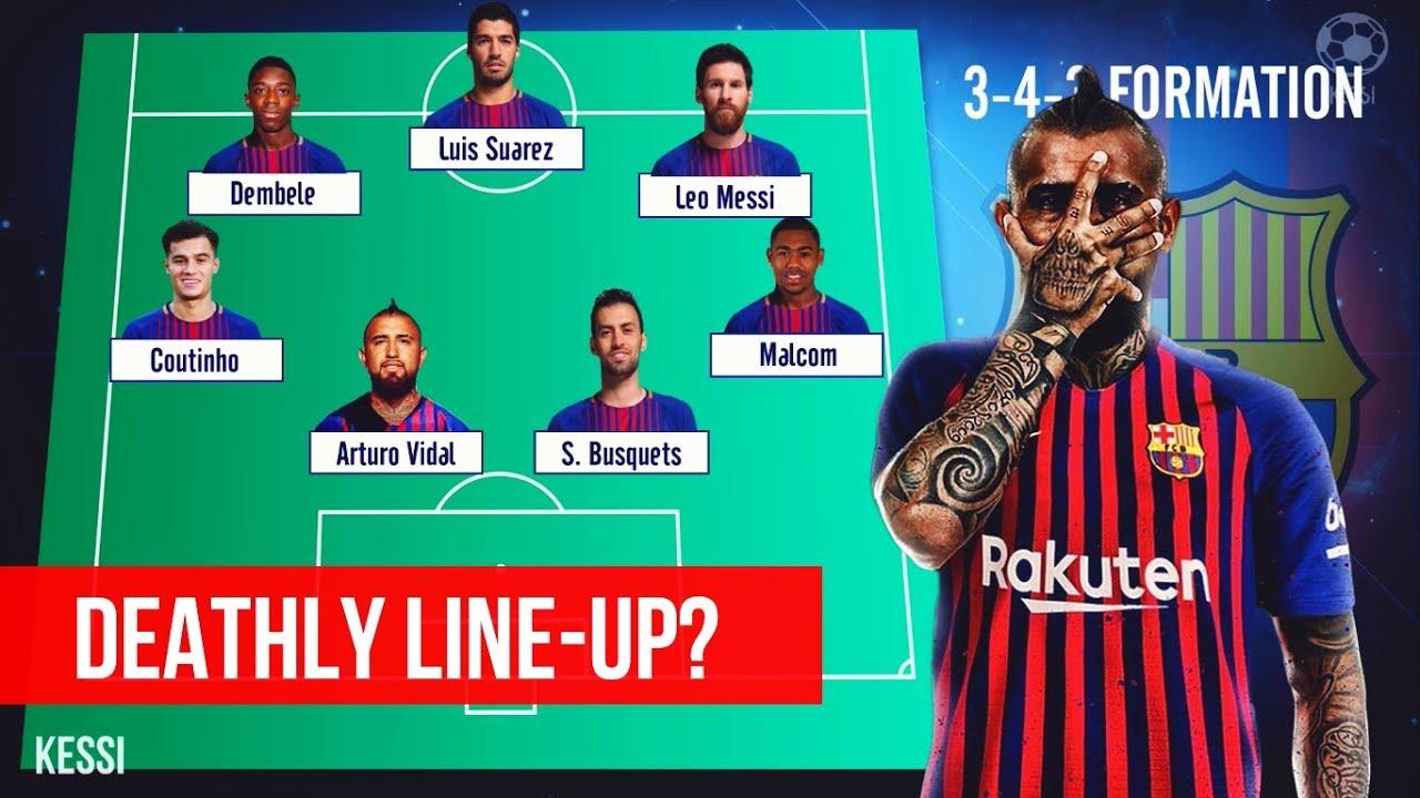 size 40 11dba f53a9 FC Barcelona ● Potential ATTACKING Line-Ups 2018/19 - Ft. Arturo Vidal,  Malcom, Messi, Coutinho