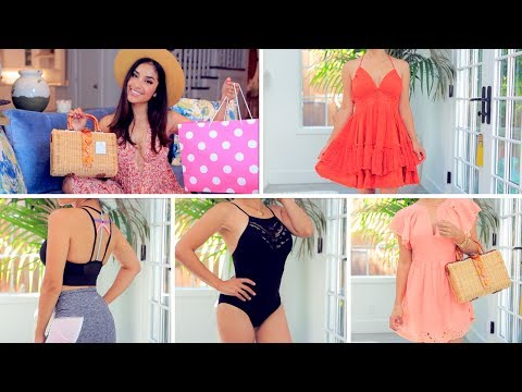 Summer Fashion TRY ON Haul|  Nike, PINK VS, Free People + MO