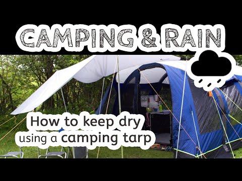 Putting up a Tarp Shelter