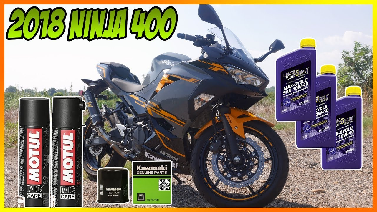 2018-2019 Kawasaki Ninja 400 Oil Change & Chain adjustment guide