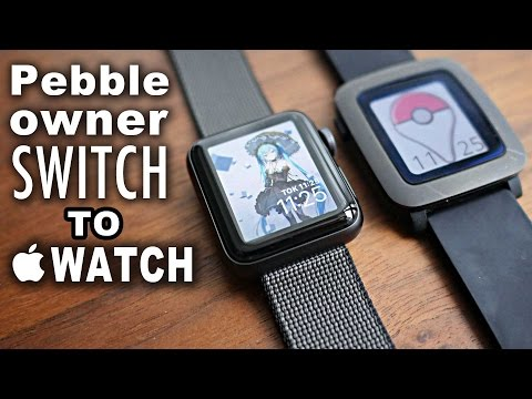 APPLE WATCH 2 or PEBBLE?|Apple Watch Series 2 Unboxing and Comparison|First Impressions