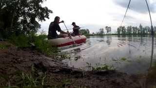 Angeln am unbekannten Baggersee in Bayern