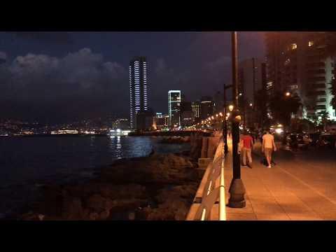 Evening Impression of Beirut, Lebanon, in Full HD (4K)