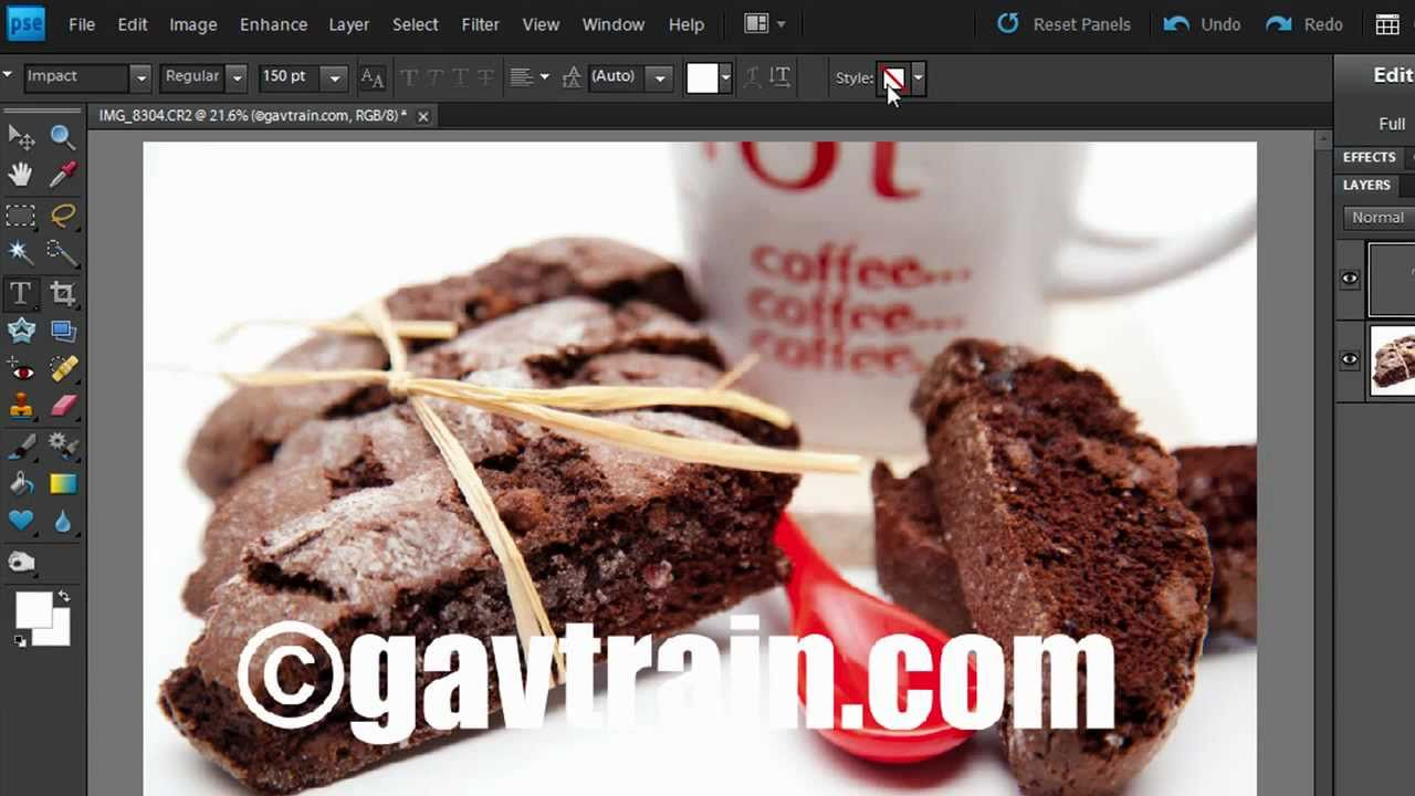 How To Add A Watermark In Photoshop Elements Youtube