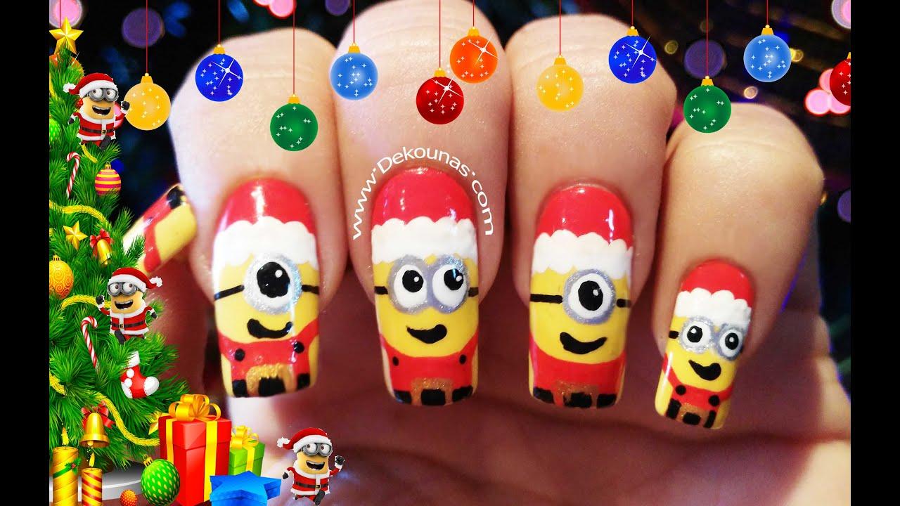 Decoraci n de u as minions navidad christmas minions - Decoracion de unas para navidad ...