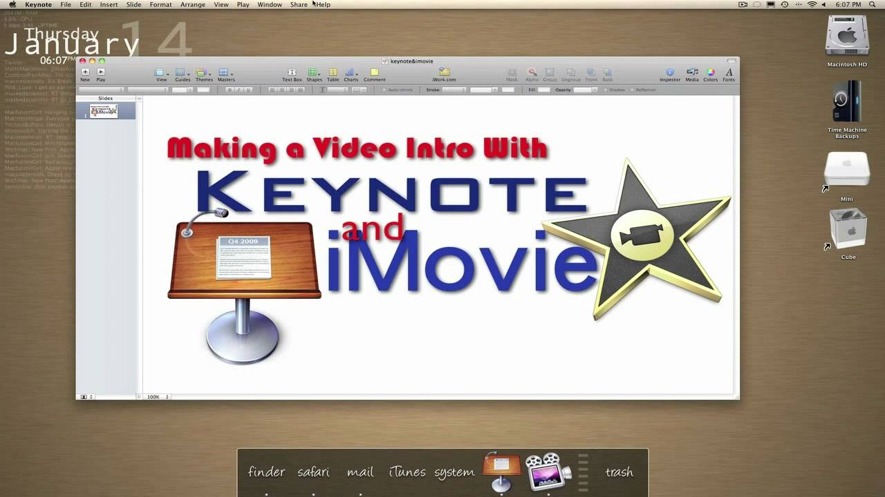 Using Keynote & iMovie for Text/Title Effects - YouTube