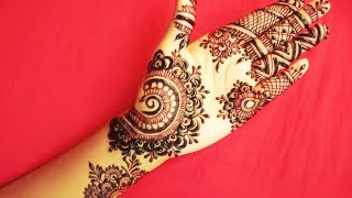 Step by Step Latest Mehndi Design For Upper Hand - Shimmi