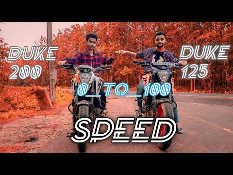 KTM Duke 125 v/s Duke 200 _0__To__100_ kitne second Me udta hai. kaunsa pahle 100.udta hai.Drag Race