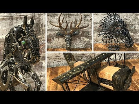 Creative Scrap Metal Art Designs For Sale CANADA | Rustic Furniture Outlet