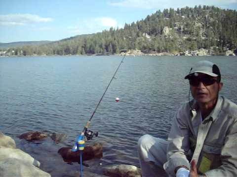 Big bear lake trout fishing using minifighter rod holders for Fishing in big bear