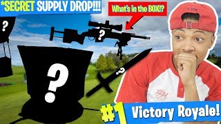 SECRET SUPPLY DROP in Fortnite: Battle Royale!