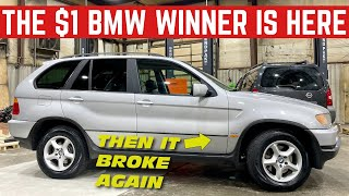 The WINNER Of The $1 BMW Picked It Up *And It Broke*