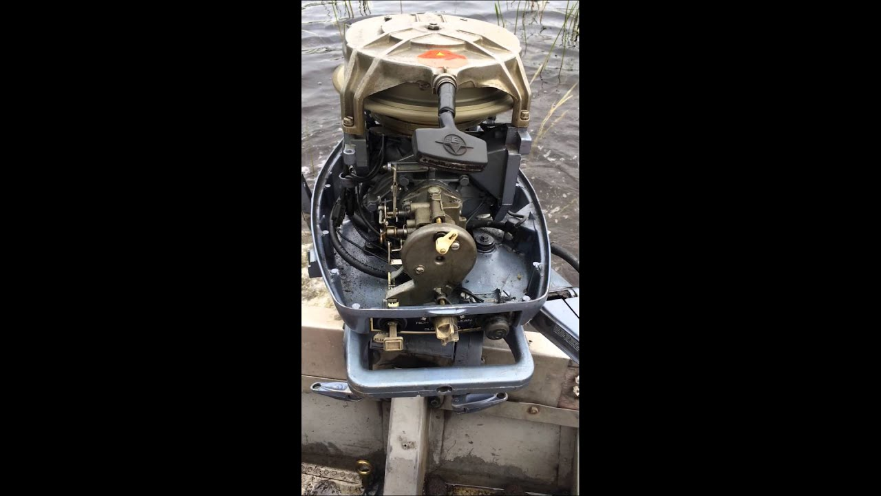 1974 Evinrude 25 hp outboard idle problems