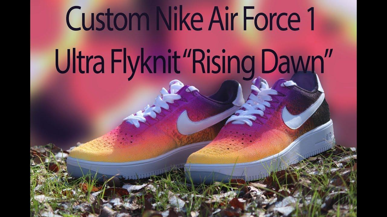 promo code 443a2 cf0de CUSTOM NIKE AIR FORCE 1 ULTRA FLYKNIT