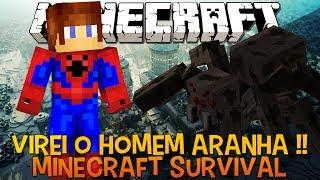 Minecraft Survival Ep.63 - Homem Aranha e Aranha Boss GIGANTE !!