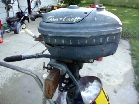1950 S Chris Craft Challenger Outboard Engine Youtube