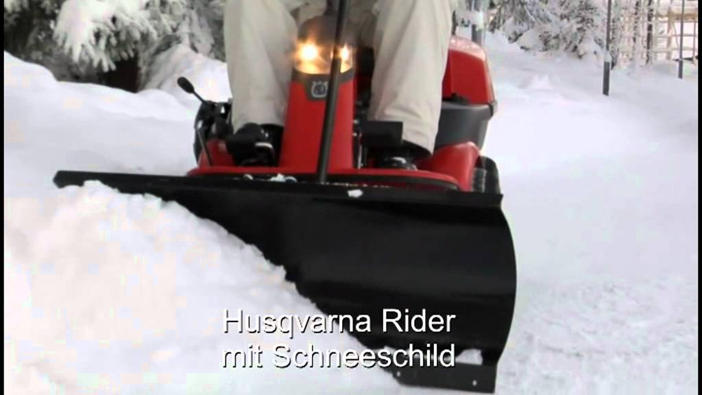 Lieblings Husqvarna Rider Hochgrasmähwerk, Schneeschild, Kehrmaschine #AB_29