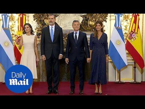 Spain's King Felipe VI and Queen Letizia visit Buenos Aires