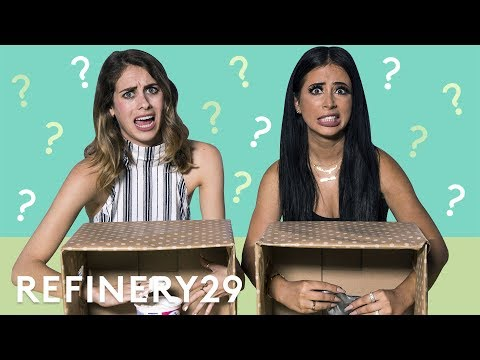 What's In The Box Challenge With Amber Scholl | YouTube Challenges | Refinery29