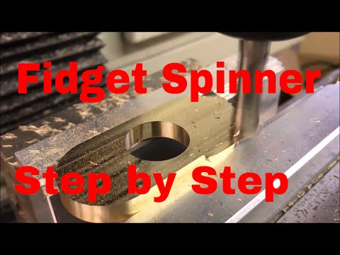 Machining a Fidget Spinner - Step By Step - CAD/CAM/Machining