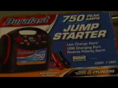 Duralast BP-DL750 750 Peak Amps Battery Jump Starter Unboxing and Review