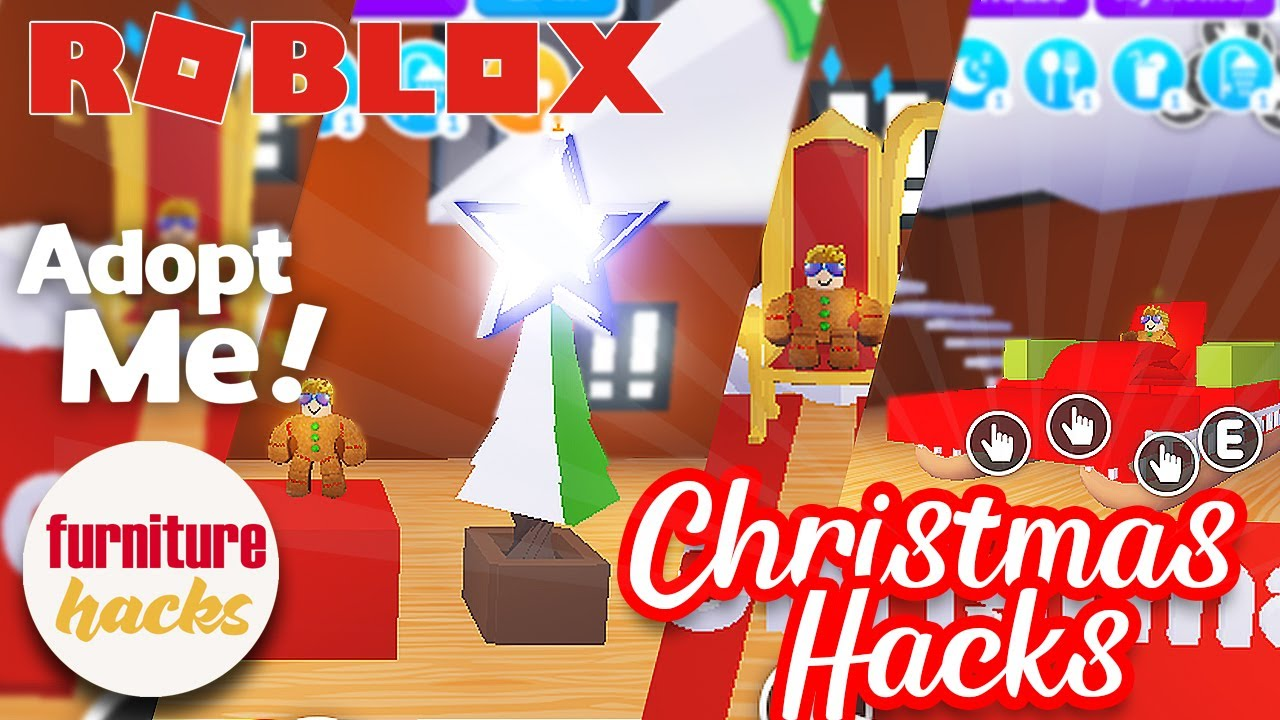 Adopt Me Furniture Hacks Winter Christmas Edition Roblox Youtube