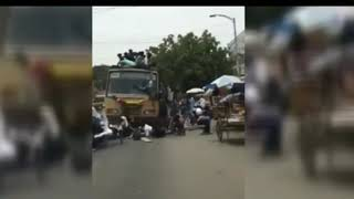 Chennai worst funny accident ever#Bus day #College students