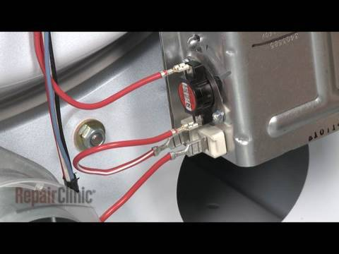 whirlpool dryer replace thermostat thermal fuse 279816 youtube rh youtube com Kenmore Dryer Heating Element Diagram Whirlpool Heating Element Wiring-Diagram Older