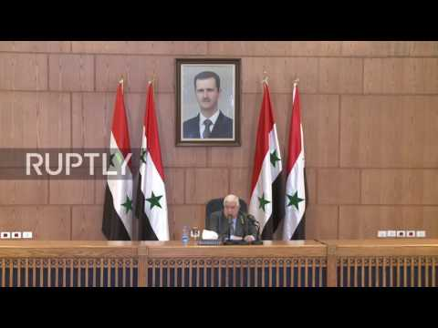 Syria: 'IS and terrorist groups behind chemical attack' - FM Muallem