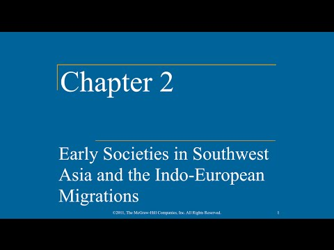 AP World History - Ch. 2 - Early Societies in Southwest Asia and the Indo-European Migrations
