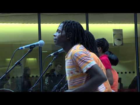 Shangaan Electro performing at Library of Birmingham