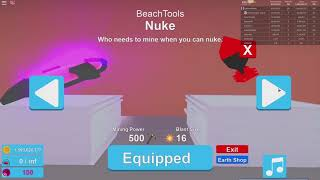 The new beach World in Mining Simulator in Roblox