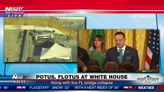 SHAMROCK BOWL: Presented by Irish PM to President Trump at the White House (FNN)