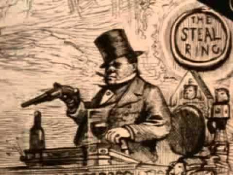 """William """"Boss"""" Tweed & Thomas Nast - Credit: Ric Burns New York City Documentary"""