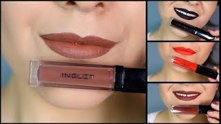 Inglot HD Lip Tint Matte Swatches