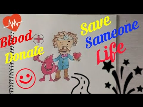 How To Draw Blood Donation Coloring Drawing Step By Step Donate