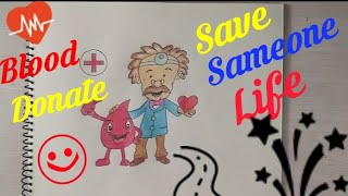 How to draw Blood Donation Coloring drawing step by step    Donate Blood Save Someone Life   