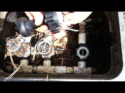 how to build a 4 valve sprinkler manifold