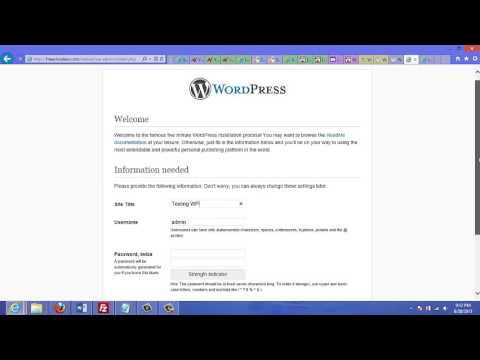 Give Mysql Database To Wordpress