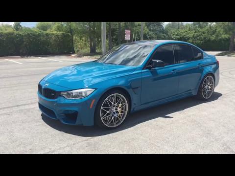 2016 BMW M3 F80 Competition Pack - Laguna Seca Blue