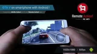 Playing GTA V on Android smartphone with Mirillis Remote Action! app