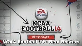 NCAA Football 14 - How to Get Real Name Rosters (XBOX 360/PS3)
