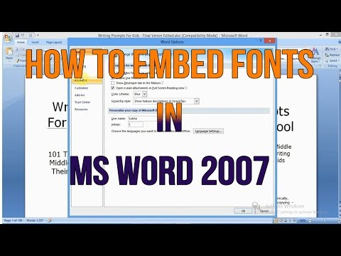 How To Embed Fonts In MS Word 2007 - MS Word Tutorials
