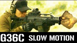 G36C Firing in Super Slow Motion