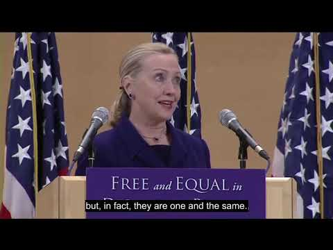 Hillary Clinton LGBT Rights are human rights English subtitle