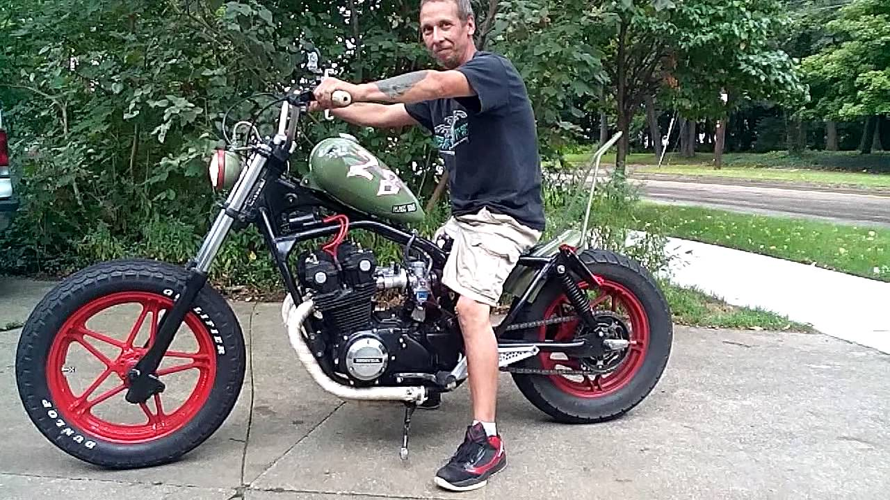 Bad Ass Quot Scooter Trash Quot Redneck Bobber Rat Bike Youtube