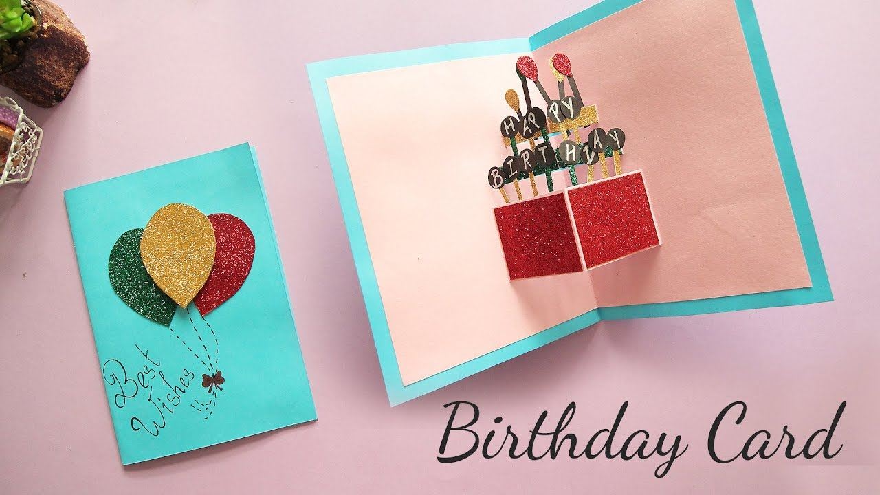 Diy Pop Up Birthday Card Making