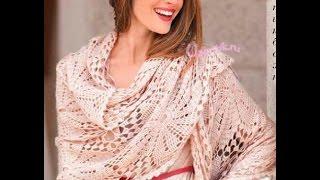 Уроки Крючком - ВЯЗАНИЕ ШАЛИ - 2019 / Lessons Hook - crocheted shawl / gehäkelten Schal