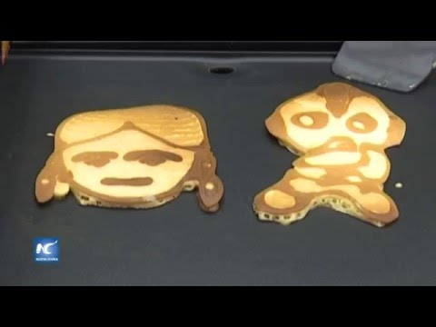Equipo Chino Diseña Impresora De Hot Cakes Para Cocinar Con Varios Patrones