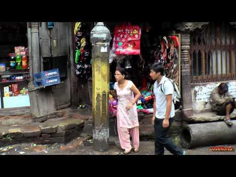 Nepal,Kathmandu bus tour and marketplace - Trip to Nepal,Tibet,India part 12 - Travel video HD